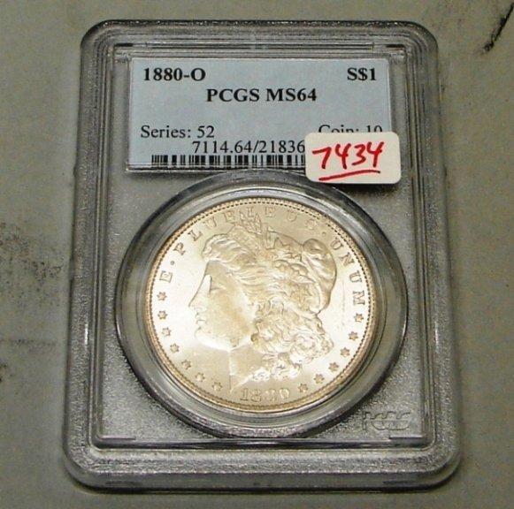 7434: 1880-O PCGS MS 64 MORGAN DOLLAR