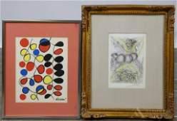 Salvador Dali & Alexander Calder Lithographs