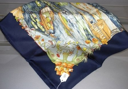 9003: Hermes 100% French Silk Scarf