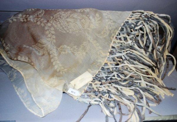 9015: Giorgio Armani Gray/Cream Silk Stole