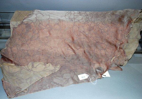 9018: Giorgio Armani Rose Scallop Silk Stole