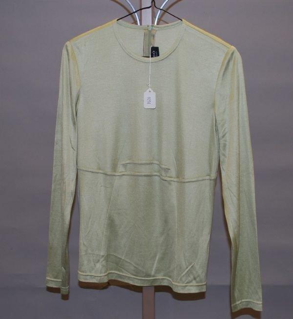 9256: CHADO Green Silk L-Sleeve Knit Top (10)