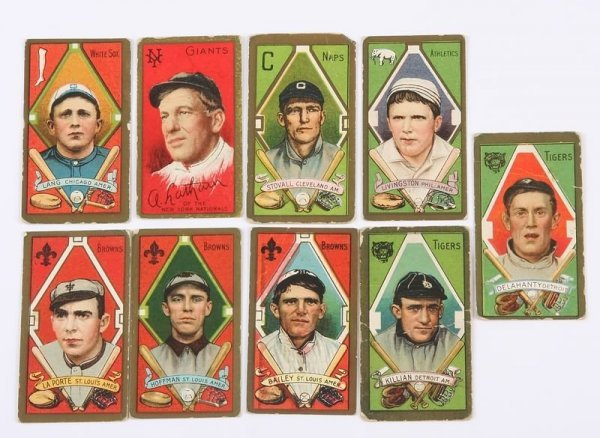 2001: Grouping of T-205 Baseball Cards