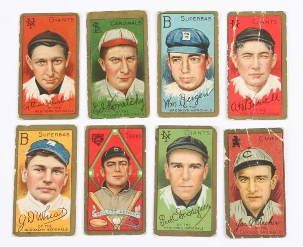 2012: Grouping of T-205 Baseball Cards