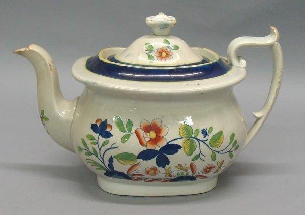 "2176: Gaudy Dutch Teapot- Rare ""No Name"""