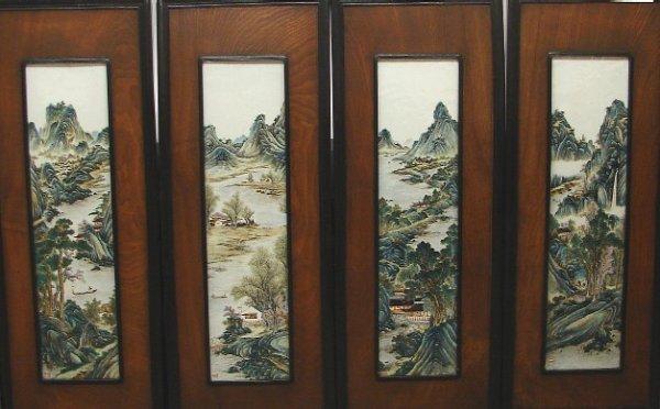 2330: Chinese Export Framed Porcelain Panels