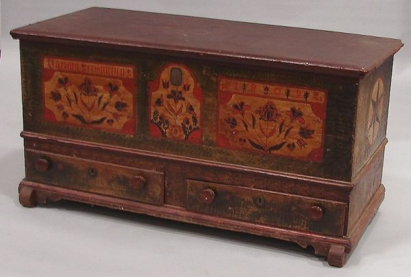 2376: Pennsylvania Paint Decorated Blanket Chest