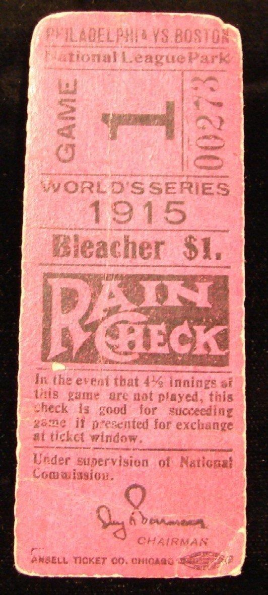 2088A: 1915 World Series Ticket Stub