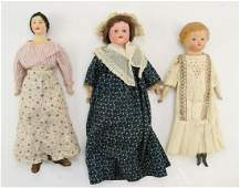 LOT OF PAPIER MACHE DOLLS