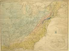 Early United States Map.