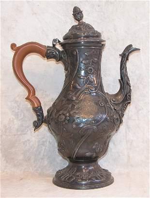 Georgian Silver Coffee Pot.