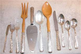 Set of Sterling Silver Flatware - J.E. Caldwell.