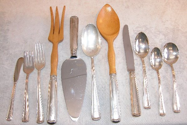 543: Set of Sterling Silver Flatware - J.E. Caldwell.