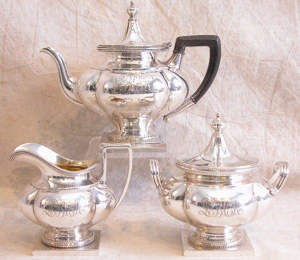 548: Sterling Silver Tea Service - Theodore B. Starr.