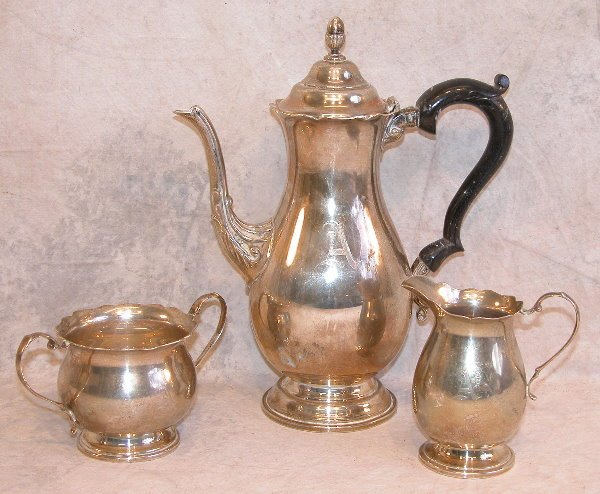 555: Sterling Silver Coffee Service.