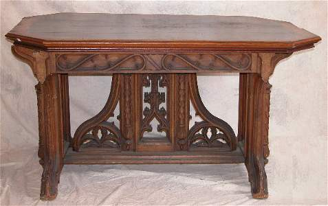 853: Gothic Style Table.