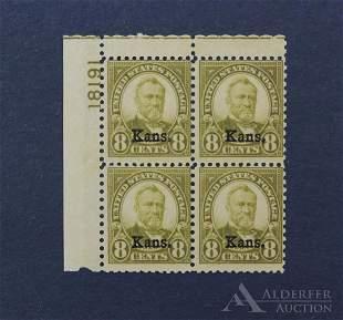 US 666 Plate Block Stamp