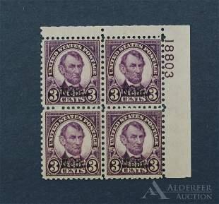 US 672 Plate Block Stamp