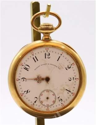 Patek, Philippe & CE 18KY Gold Pocket Watch