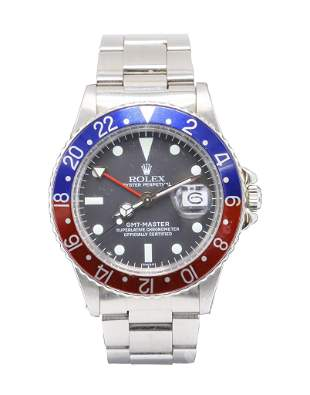 """Rolex Oyster Perpetual """"Pepsi"""" GMT Master Wrist Watch"""