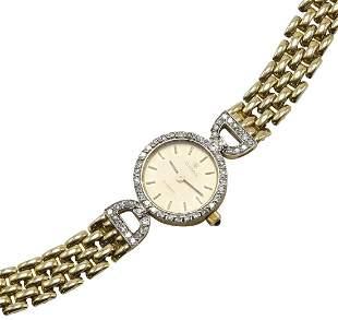Cyma 14KY Gold Diamond Ladies' Wrist Watch