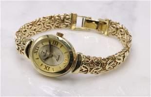 Vicence 14KY Gold Ladies Quartz Watch