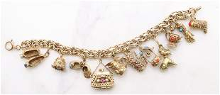 14KY Gold Charm Bracelet with Charms