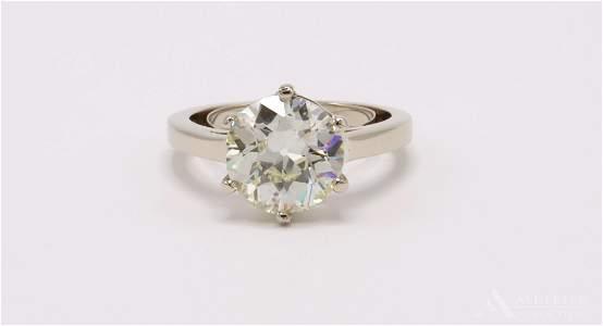 14KW Gold Diamond Ring. 3.04CTS