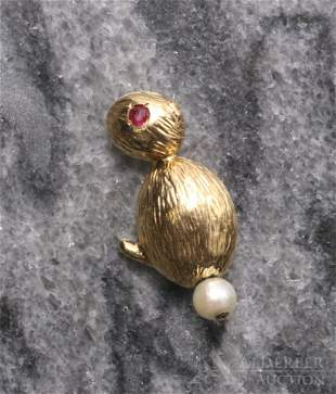 14KY Gold Chick Pin