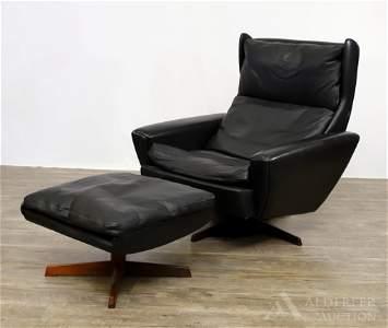 Danish Mid-Century Modern Lounge Chair and Ottoman