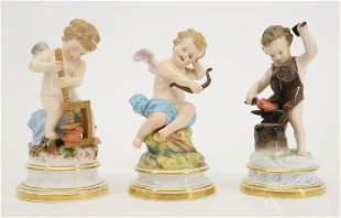 Meissen Cupid Figurines