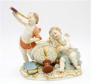 Meissen Allegorical Figurine of Astronomy