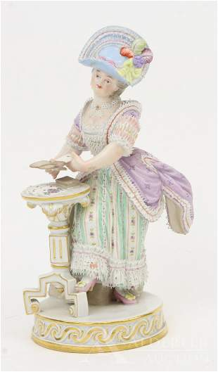 Meissen Figurine of a Young Lady