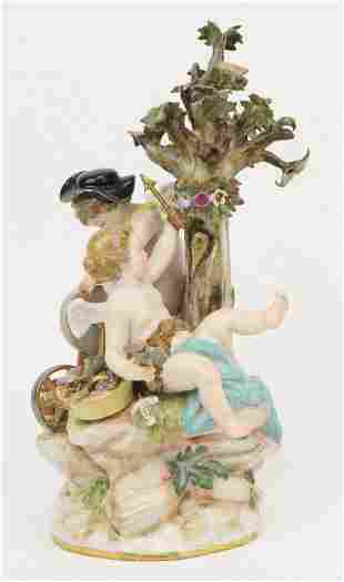 Meissen Cupid Figurine