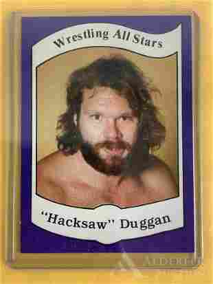 "1983 Wrestling News ""Hacksaw"" Dugan trading card"
