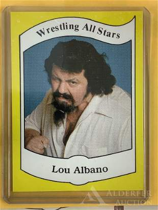 "1983 Wrestling News ""Captain"" Lou Albano trading card"