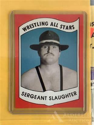 1982 Wrestling News Sergeant Slaughter trading card