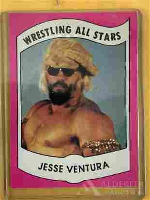 1982 Wrestling News Jesse Ventura trading card