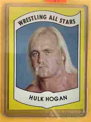1982 Wrestling News Hulk Hogan trading card