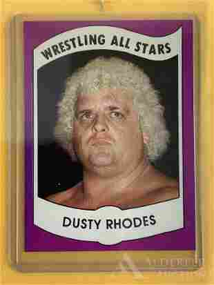 1982 Wrestling News Dusty Rhodes trading card