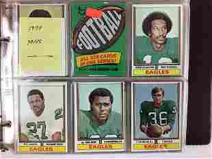 1974-1977 Topps Football trading cards and wrappers