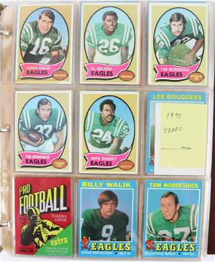 1970-73 Topps Football trading cards and wrappers