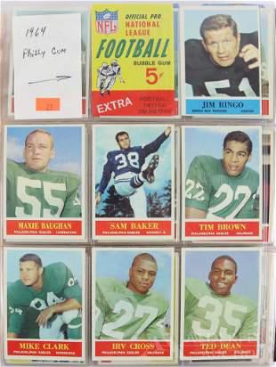 1964-66 Philadelphia Gum Football trading cards and