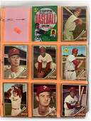 1962-65 Topps baseball cards and wrappers