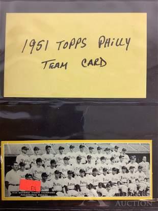 1951 Topps baseball Team Card