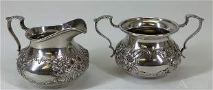 S. Kirk & Son Sterling Silver Repousse Creamer and