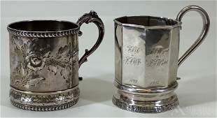19th c. Silver Cups