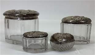 Sterling Silver Dresser Jars