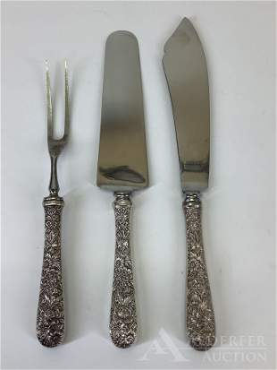 S. Kirk & Son Sterling Silver Repousse Serving Pieces