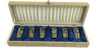 Cased Sterling Silver Cordials or Shot Glasses